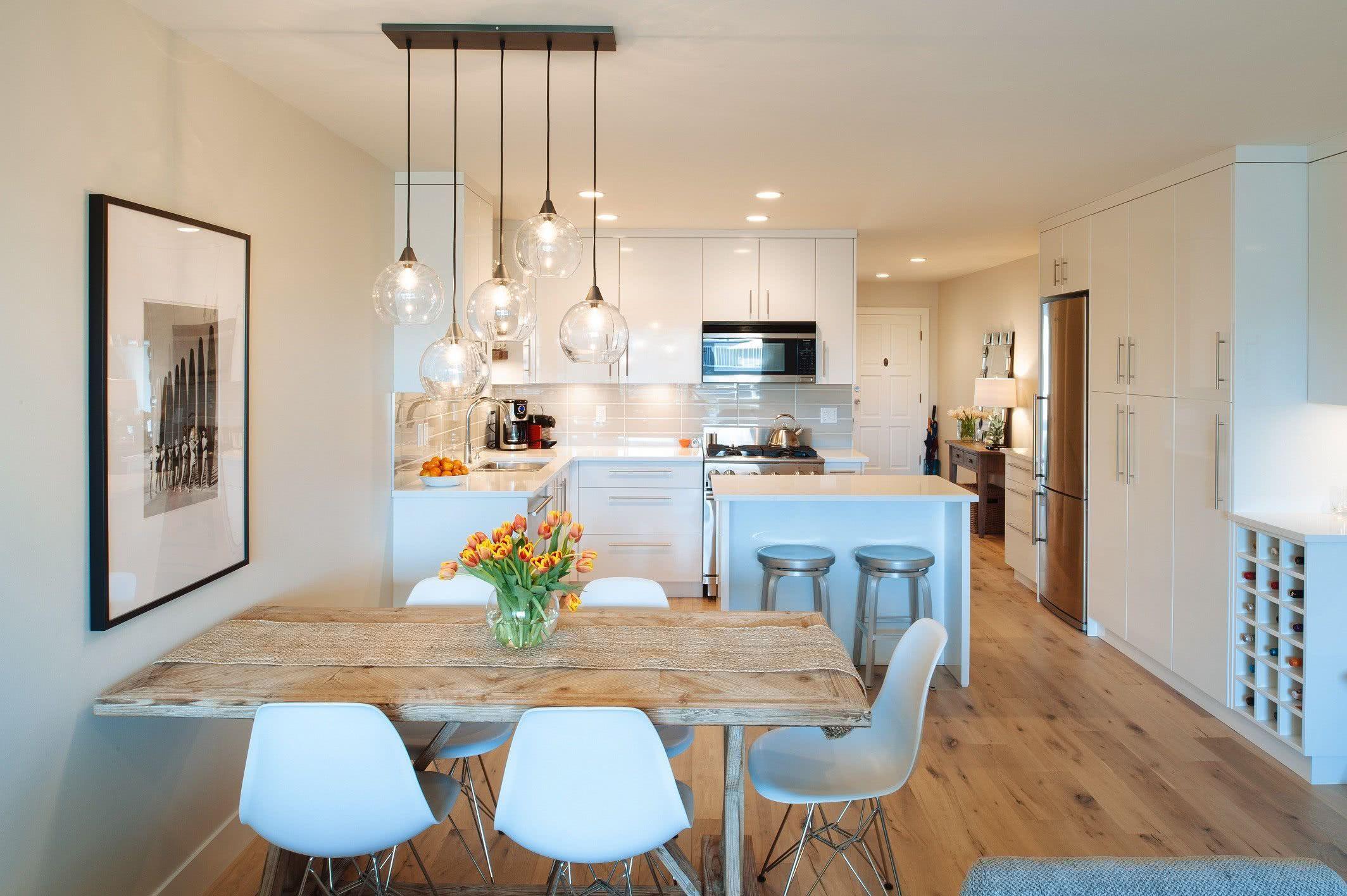 Inspire Se Com 119 Projetos Diferentes De Cozinhas Pequenas  ~ Lustre Para Cozinha Americana