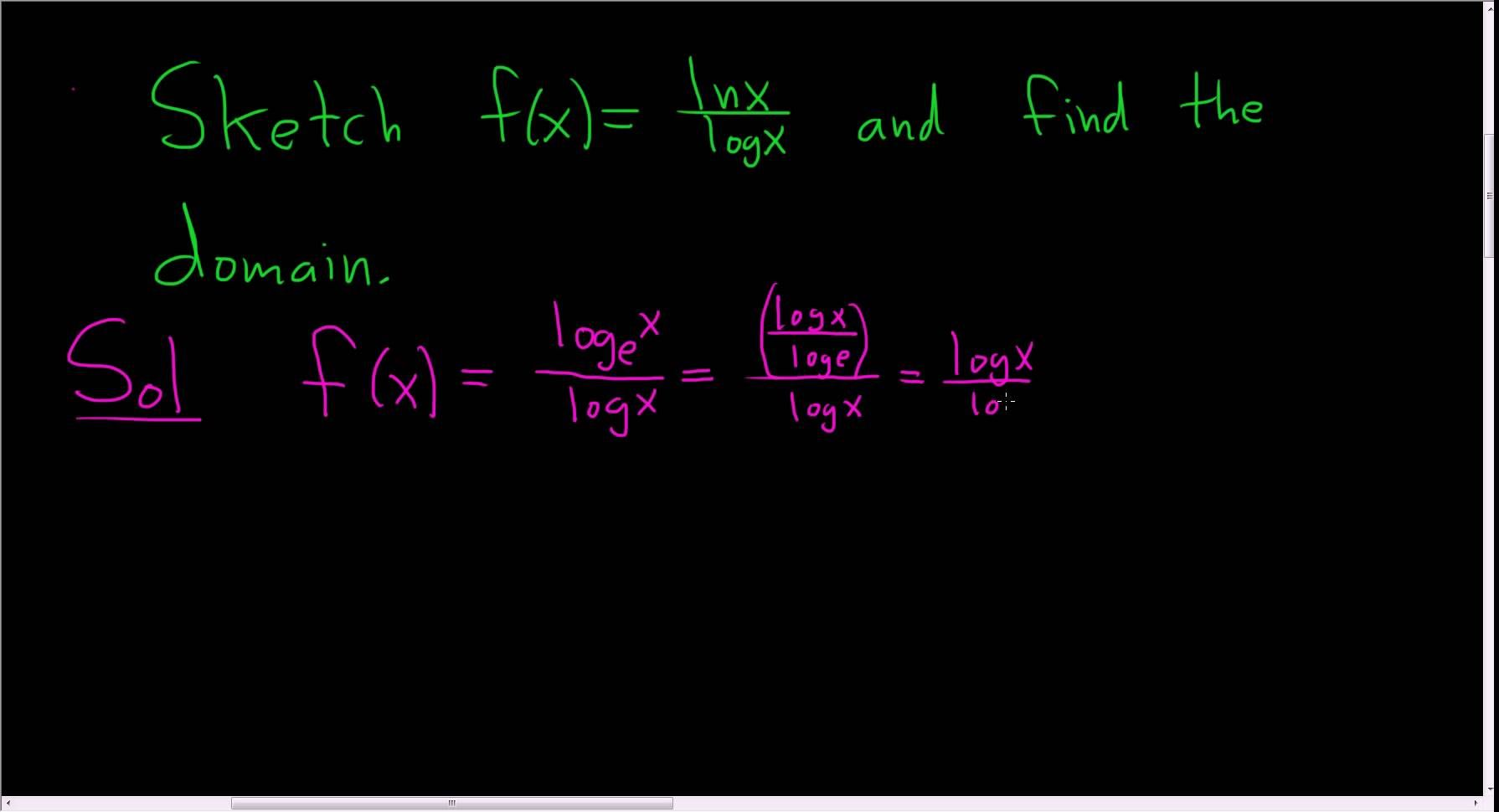 Graph And Domain Of The Function F X Ln X Log X