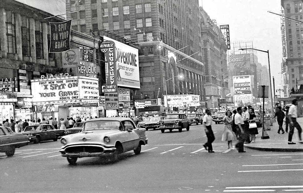 1963 View To Coppertone Billboard At 7th Ave And 43rd St Nyc Times Square Times Square New York City