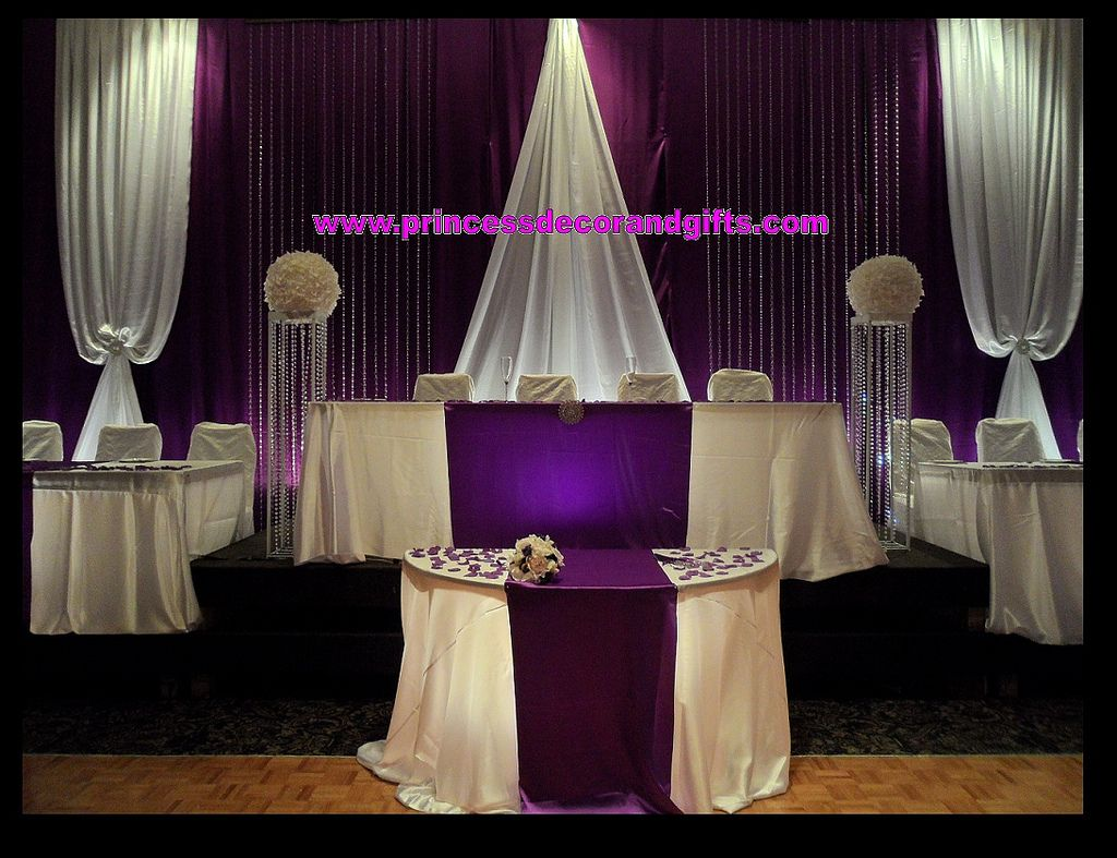 purple and gold wedding backdrop - Google Search | retirement ...
