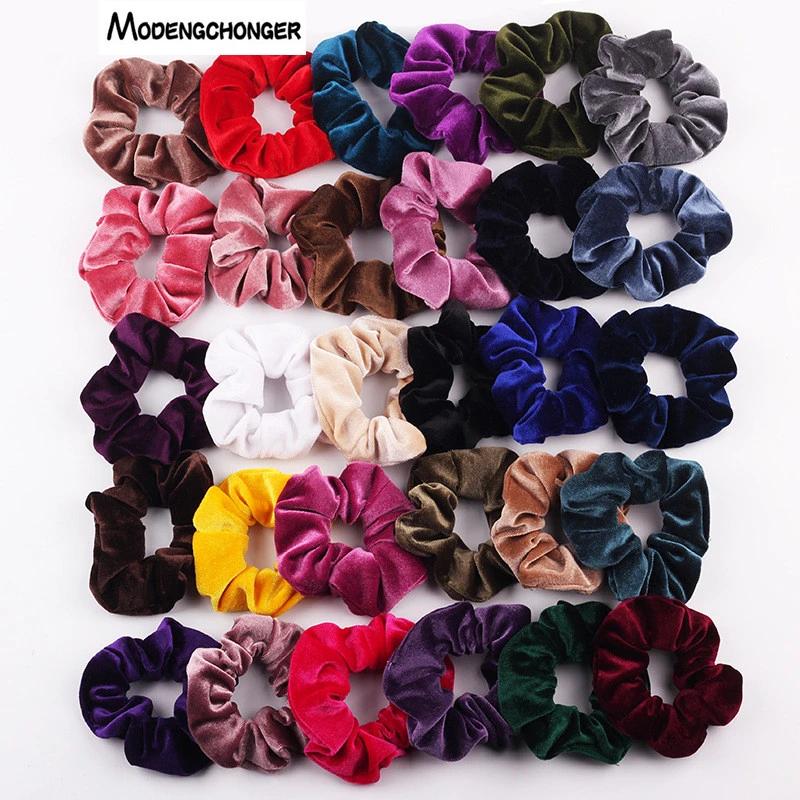 Fur Hair Rope Scrunchies Women Girl Elastic Hair Rubber Bands Hair Accessories