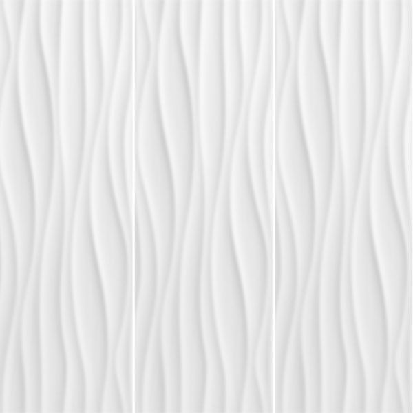 Wall Decorative Tiles Entrancing Wave Blanco Brillo Gloss Glazed Ceramic Wall Decor Tiles 250X750Mm Design Decoration