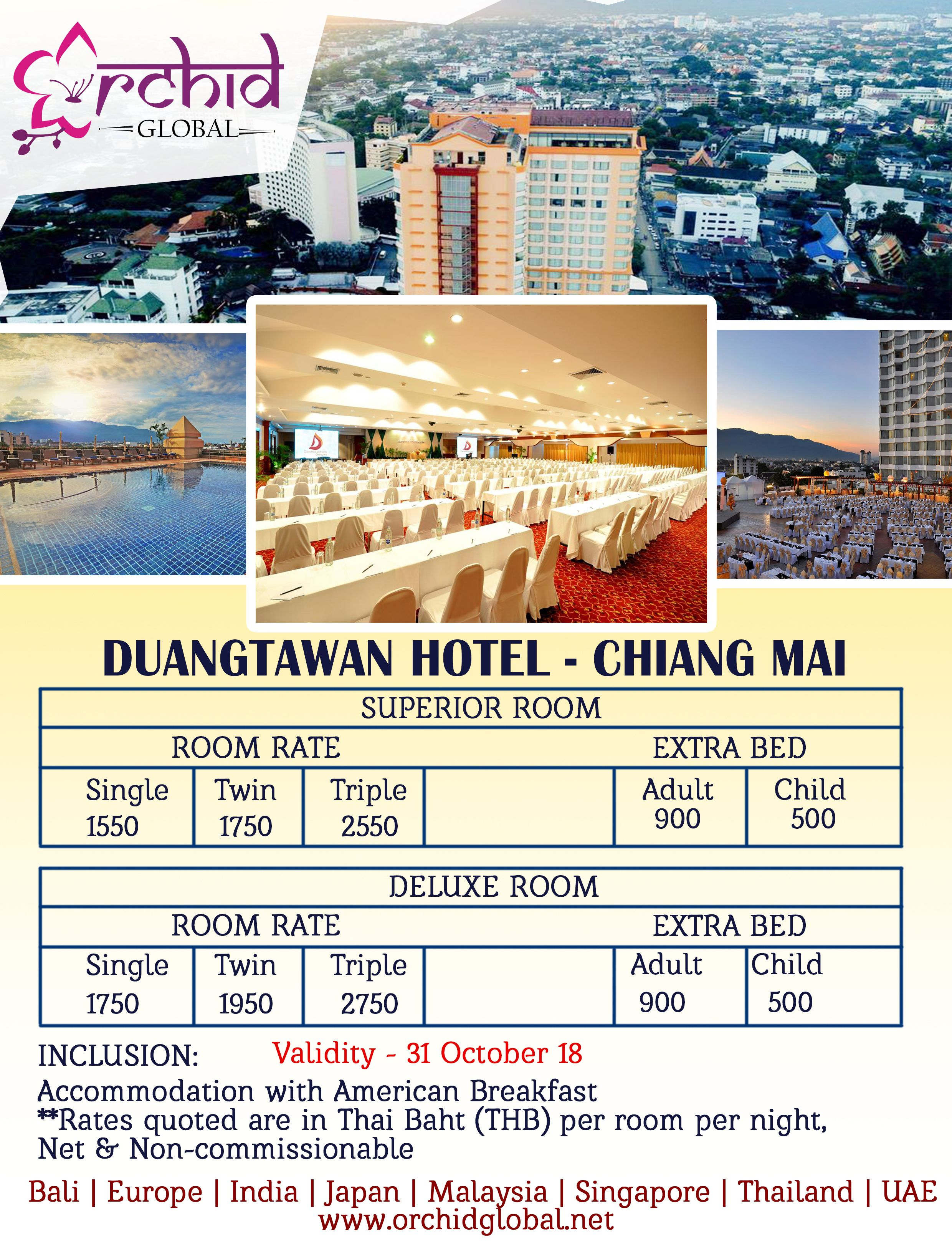 Grab Our Best Rates On Duangtawan Hotel Chiang Mai And
