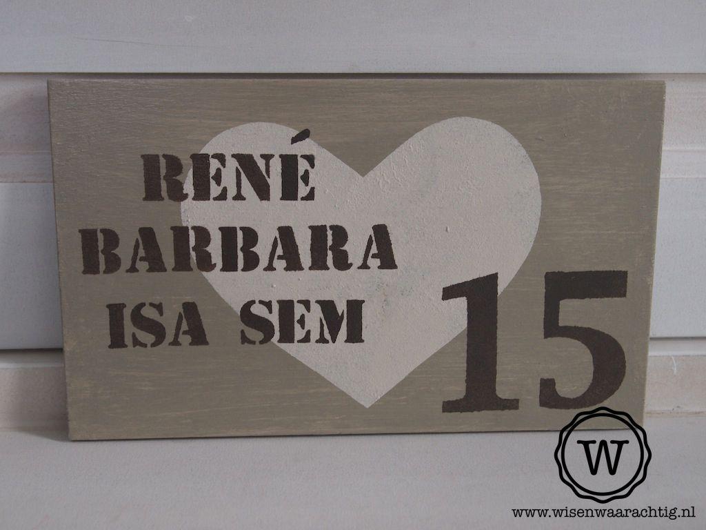 Naambord Voordeur Landelijk : Romantisch naambord bij de voordeur srdce srdíčka i door