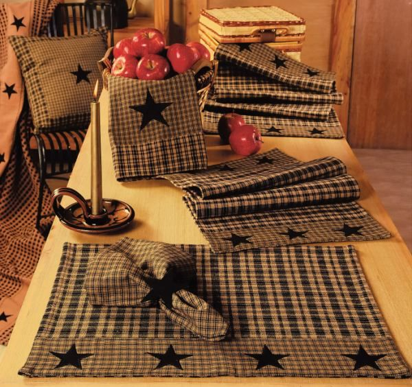 Check Out The Deal On Vintage Star Black Placemat At Primitive Home Decors