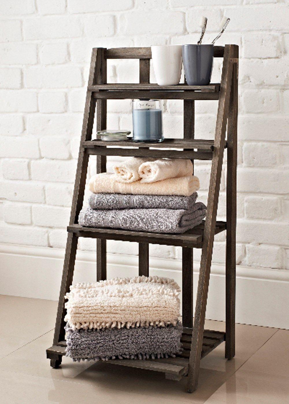 slatted bathroom shelving ladder unit 40cm x 30cm x 80cm
