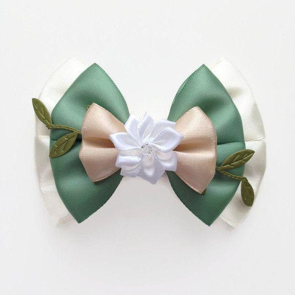 Girls Handmade Princess and the Frog Tiana Ribbon Hair Bow Headband