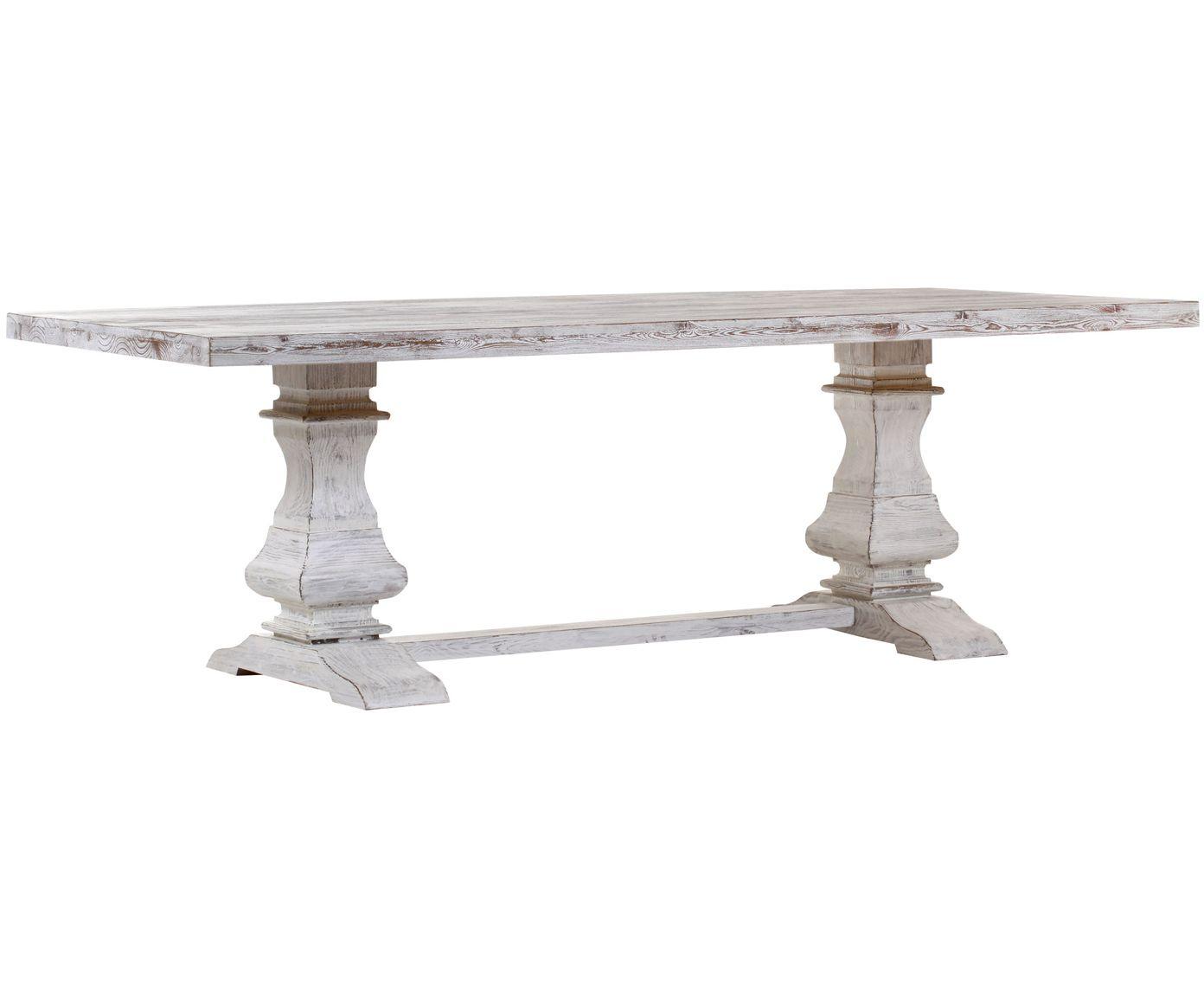 Wundervoll Dieser Tisch Ist Ein Tolles Highlight Für Ihren Essbereich. Das Weiß  Lackierte Pinienholz Passt Perfekt