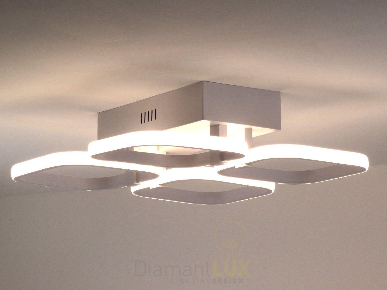 Lampadari E Plafoniere Moderne : Lampadario plafoniera led bianco onde luminose cerchi