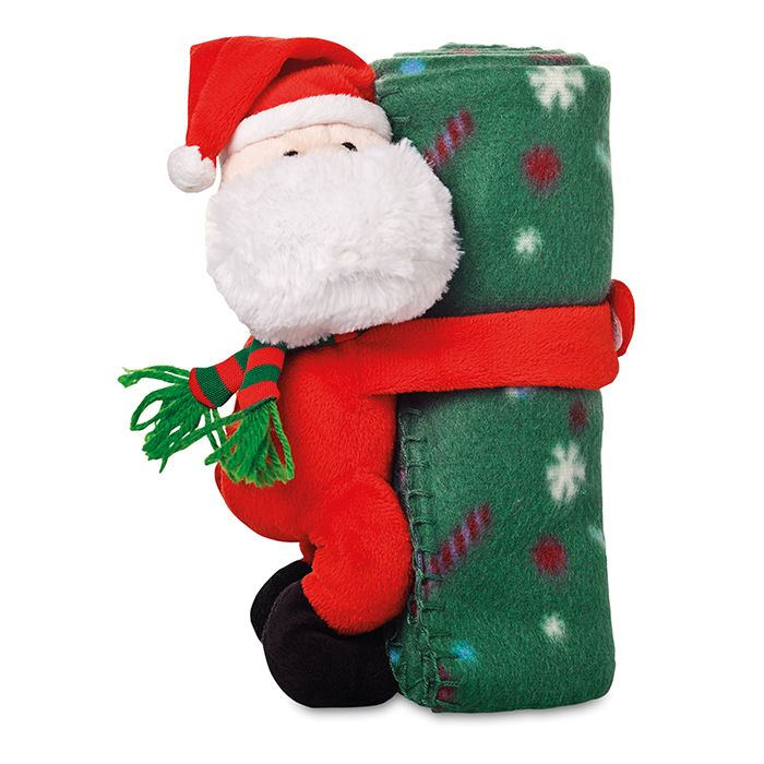 Manta Navideña con Papa Noel