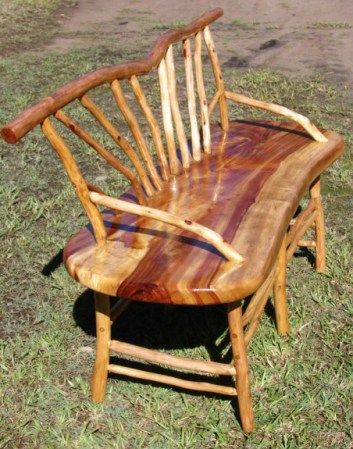 Australian Bush Furniture Bush Furniture Rustic Wooden Bench