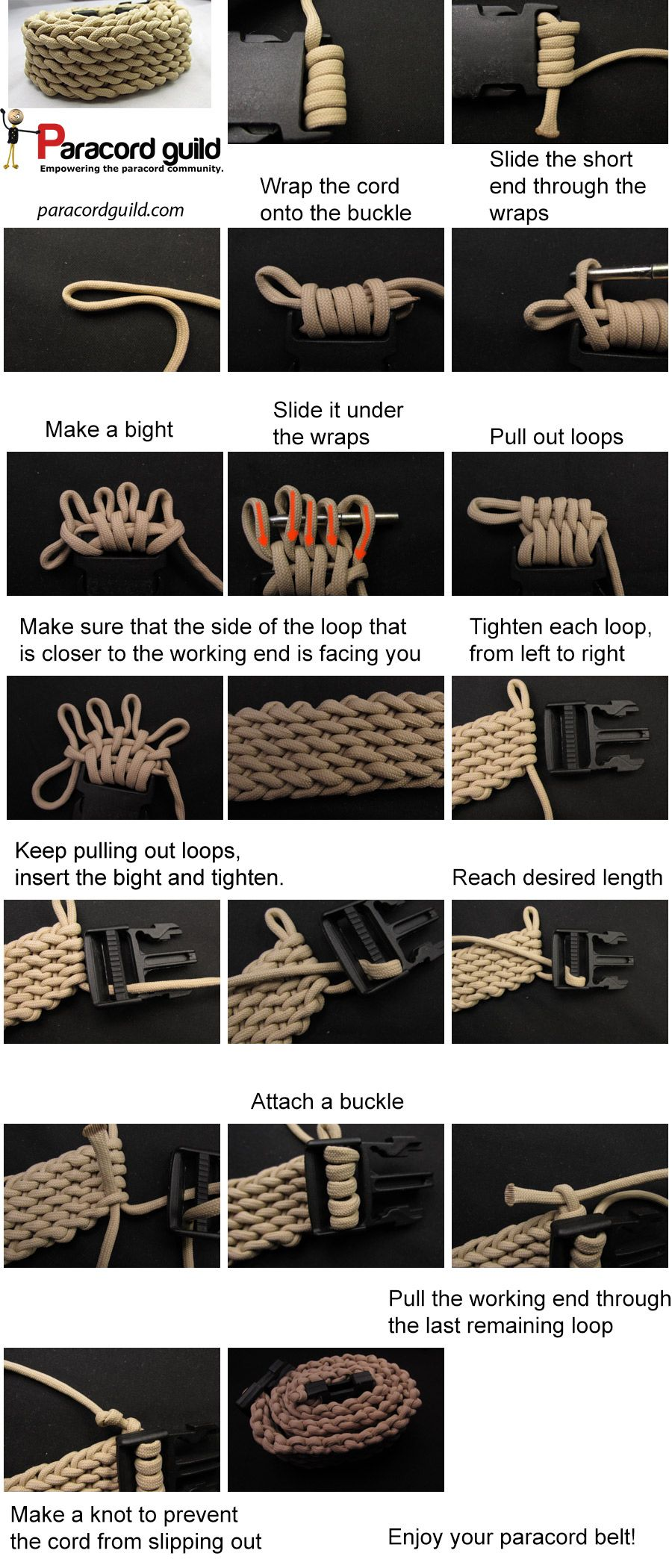 How to make a paracord belt - Paracord guild | Paracord ...