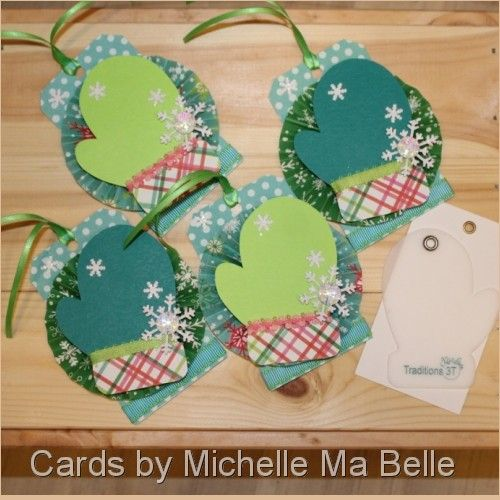 Handmade Chirstmas Tags easy with Kiwi Lane Mitten Template and ...