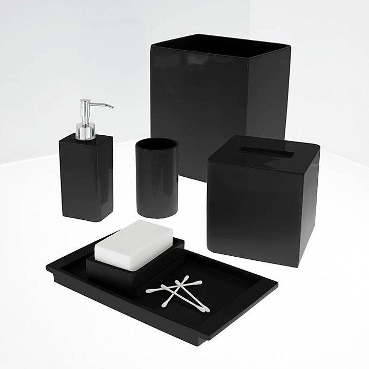 Katex Lacca Black Bath Accessories