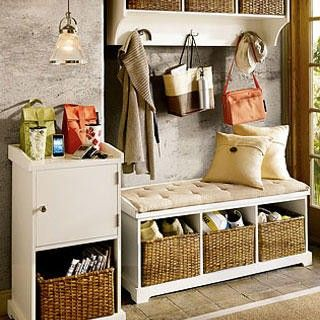 Entryway U0026 Mudroom Inspiration U0026 Ideas {Coat Closets, DIY Built Ins,  Benches, Shelves And Storage Solutions}   Bystephanielynn. I Like Just The  Bench With ...
