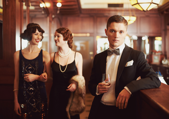 Rip-Roarin' Refinery campaign for the Art Gallery of Alberta featuring wardrobe from Swish Vintage and Simons. #1920s