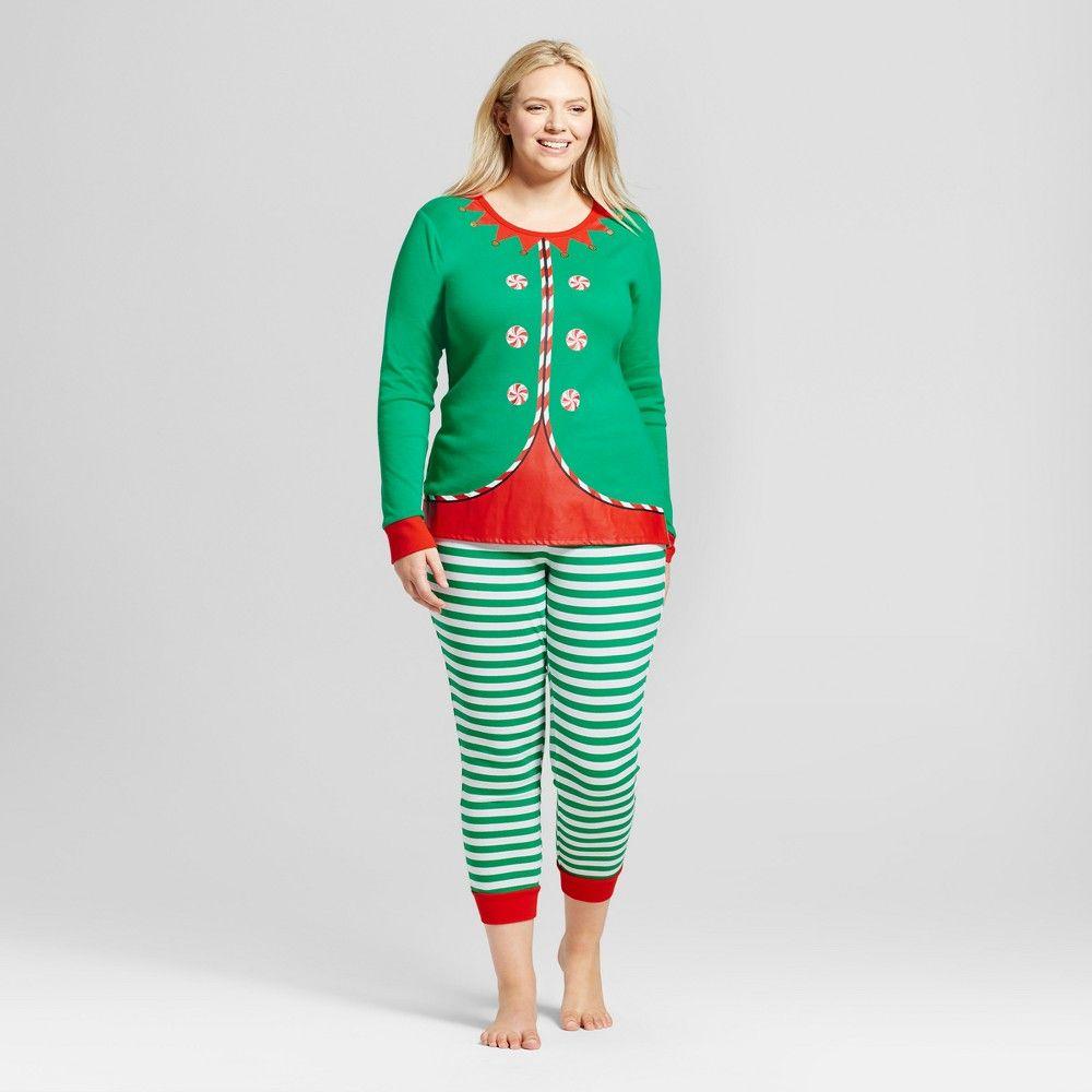 3fa0889b29 Women's Plus Size Pajama Set - Wondershop Growing Garden Xxl, Size: 2XL,  Green