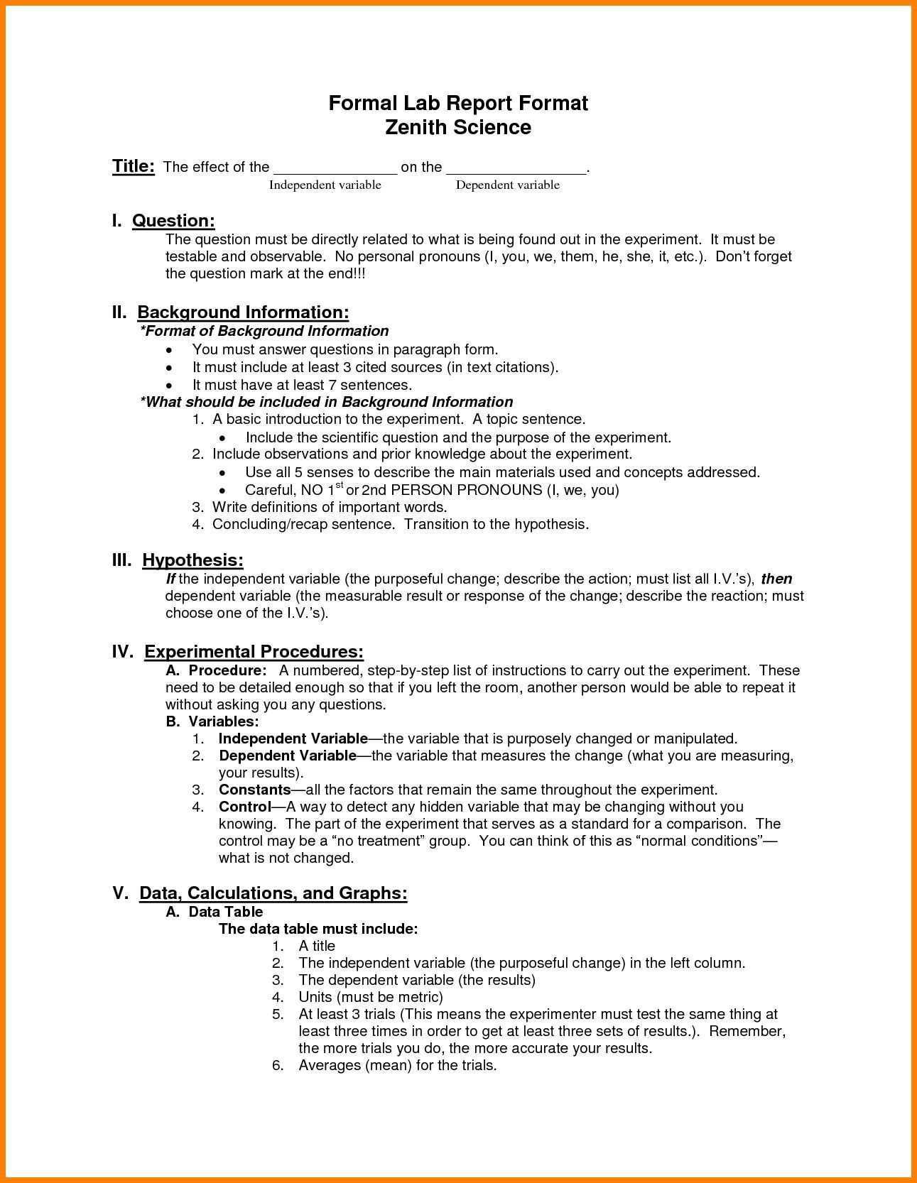 The Extraordinary Lab Report Example Along With Lab Report Template Word Zrom Regarding Lab Report Template Word Lab Report Lab Report Template Report Template