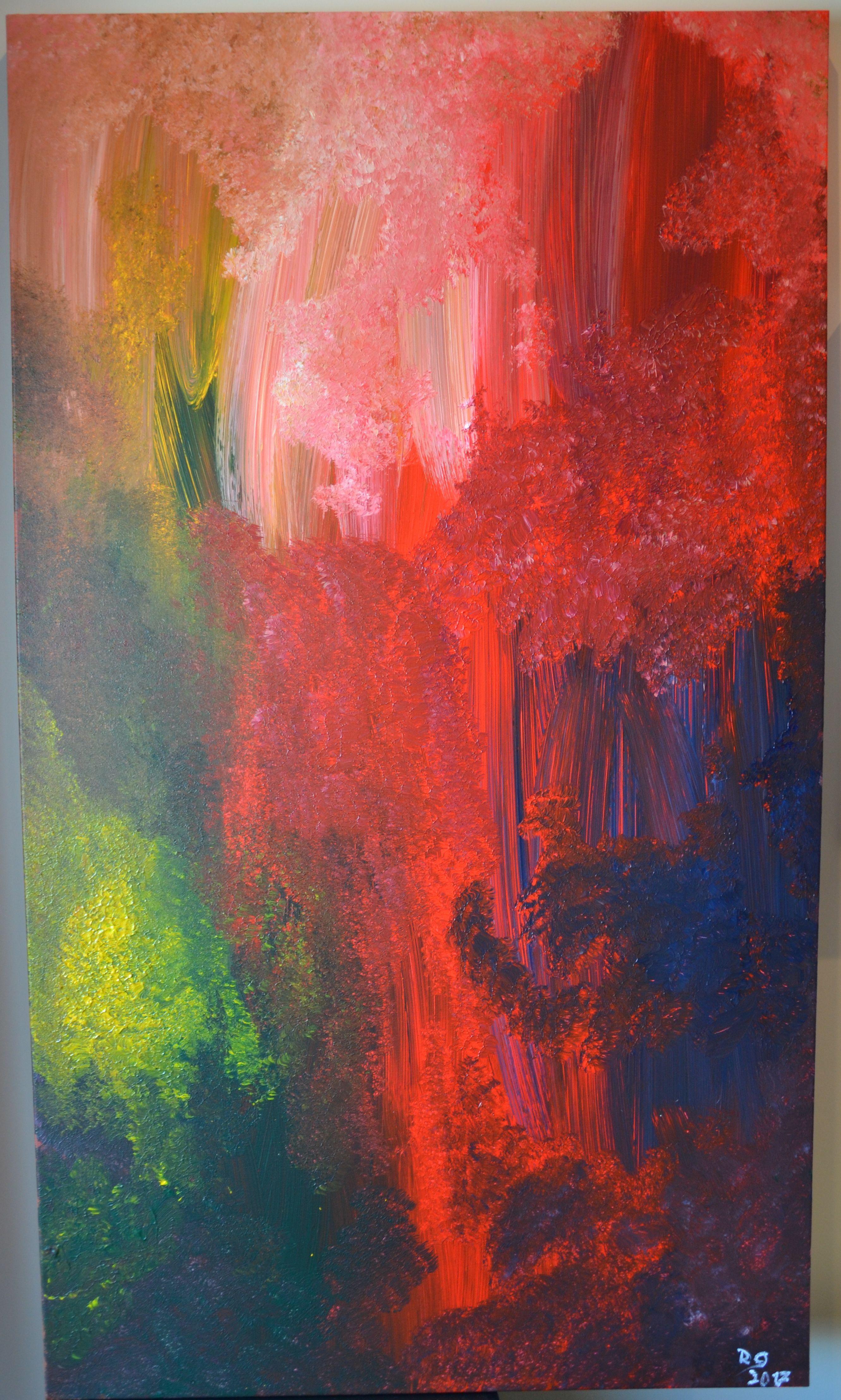 Warm Acrylic on canvas 140cm x 80cm