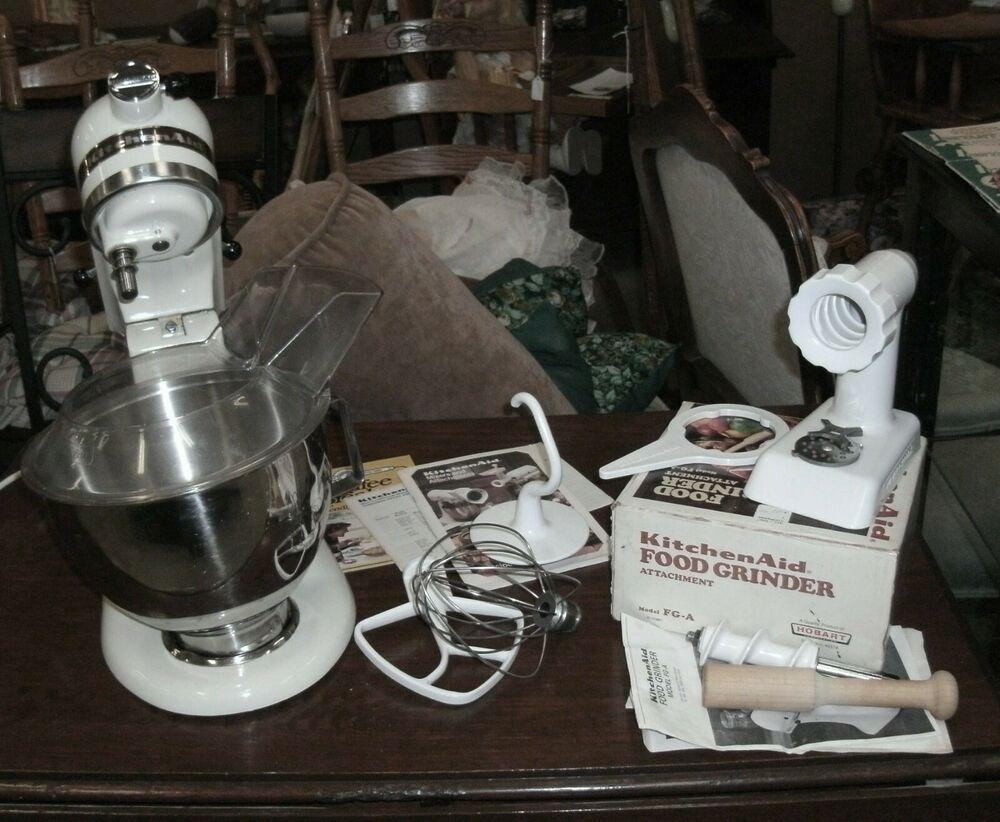 Hobart kitchenaid 1985 stand mixer k45ss attachments pour