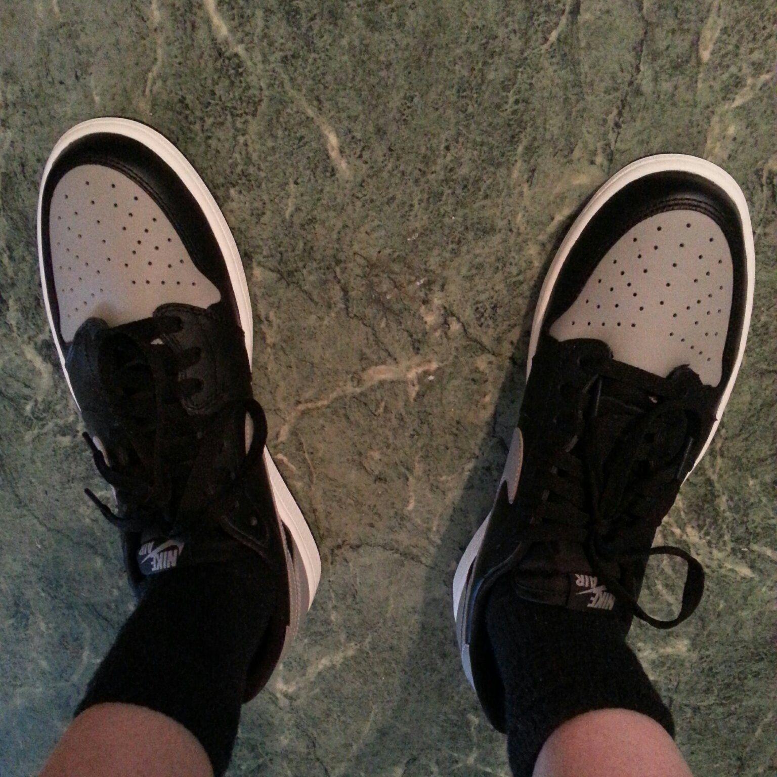 On Feet Nike Air Jordan 1 OG Shadow Low