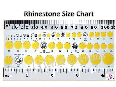 242ad0e449bb Rhinestone Size Chart items in I Heart Crystals store on eBay!