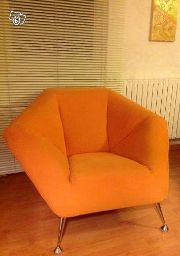 Fauteuil Tissu Orange Ameublement Herault Leboncoin Fr Ameublement Fauteuil