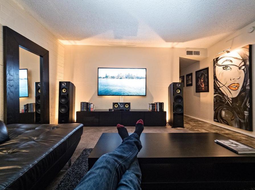 Signature series hi fi three way floorstanding speakers in - Living room surround sound systems ...