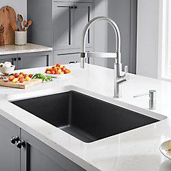 Glacier Bay Single Bowl Dualmount Kitchen Sink Black The Home Depot Canada Sink Double Kitchen Sink Kitchen Sink