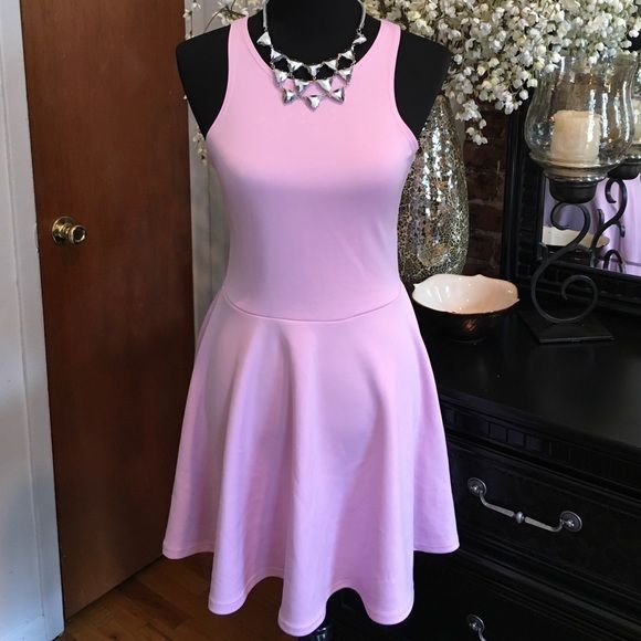 Spring Skater Dress  In perfect condition. Zips up the back. Stretchy material. Lulu's Dresses