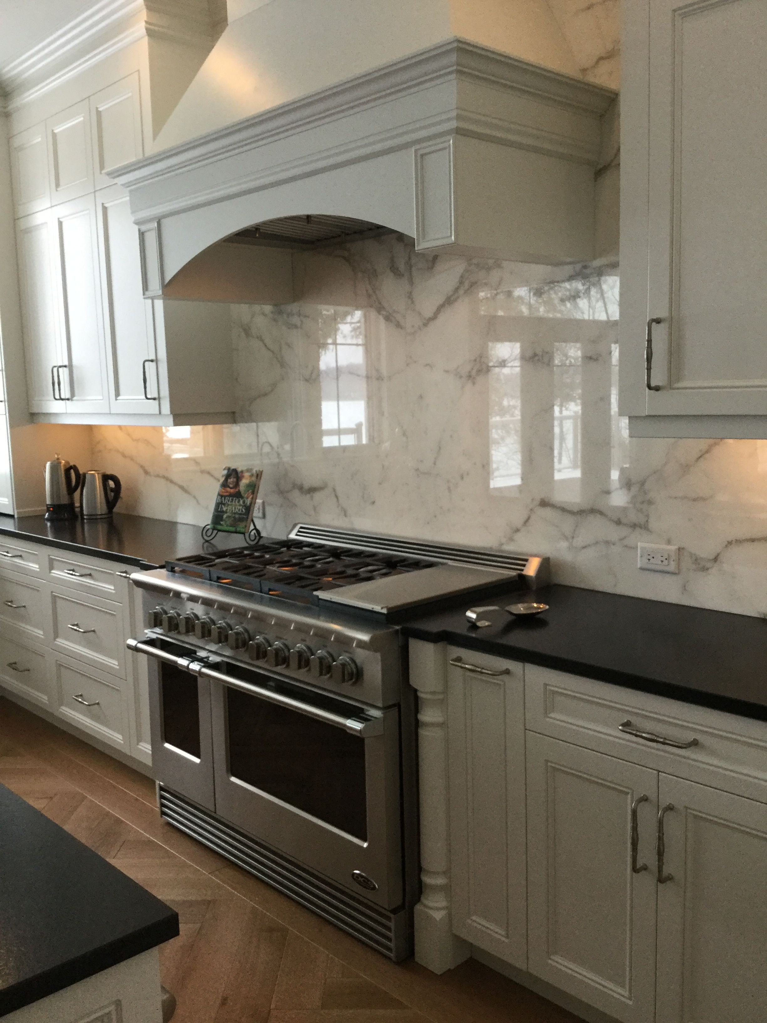 Iu0027m obsessed with our calacatta marble backsplash