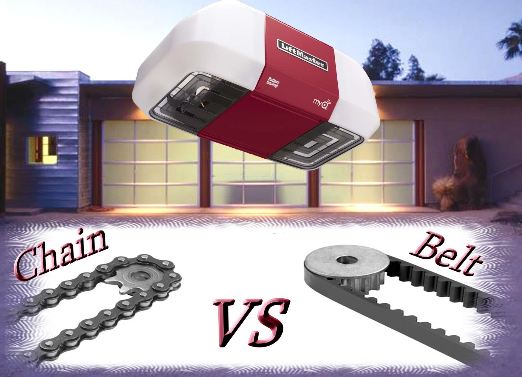 Garage Door Openers Liftmaster Belt Vs Chain Garage Door Blog In Long Island Ny Liftmaster Garage Door Garage Door Chain Liftmaster Garage Door Opener