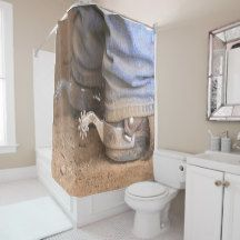 Western Rodeo Cowboy Cowgirl Boots And Spurs Shower Curtain