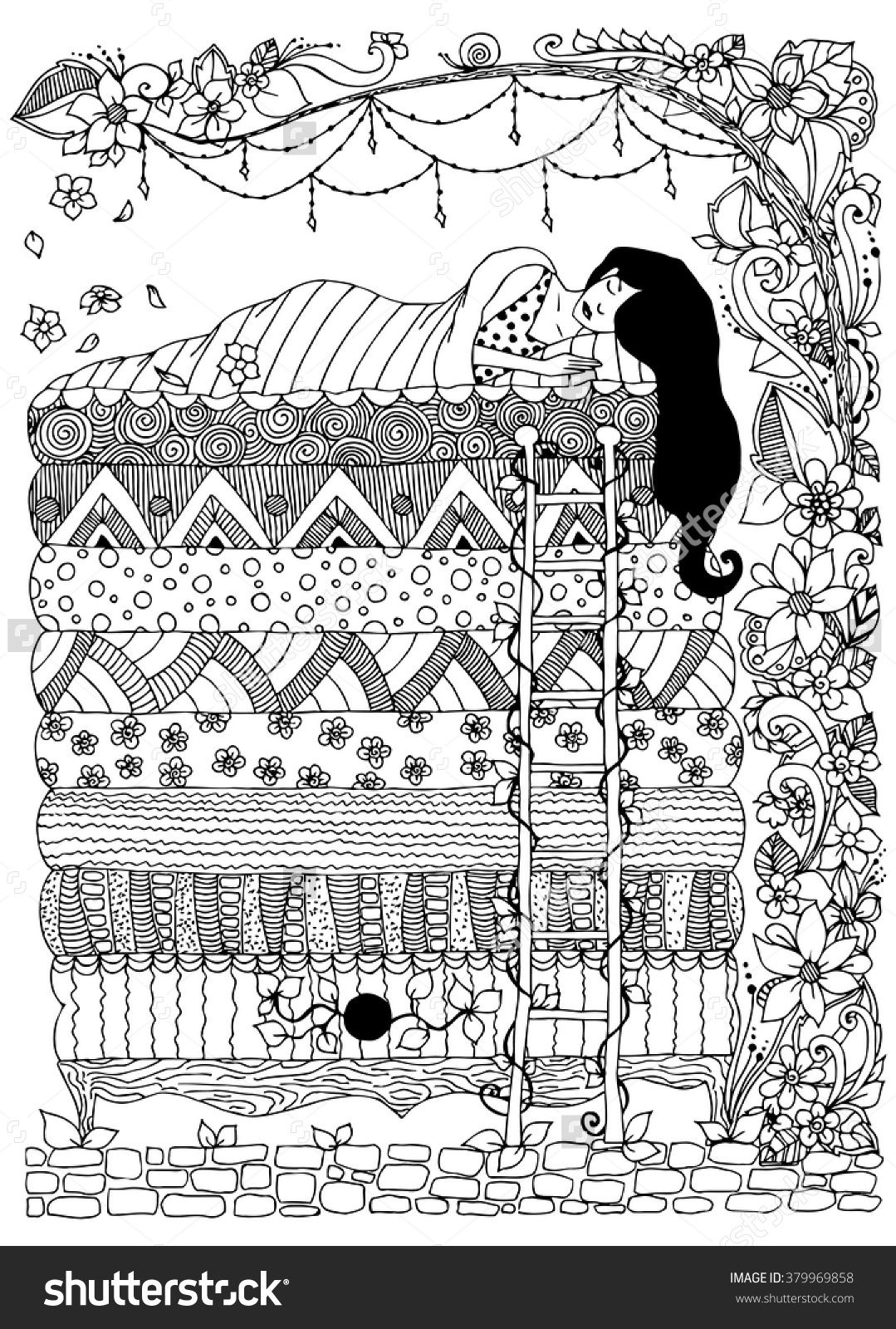 Princess And The Pea Zentangle Birthdays