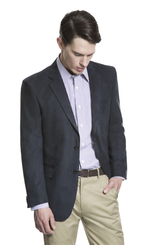 Camisa Micro Xadrez Roxa Blazer De