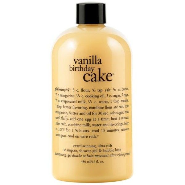 Philosophy Vanilla Birthday Cake Shower Gel 18 Liked On Polyvore Featuring Beauty Products Bath Body Cleansers And Bubble