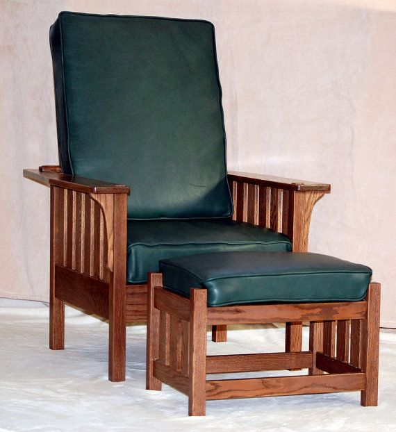 Merveilleux Mission Style Morris Chair With Footrest By RmcCustomWoodworks, $1650.00