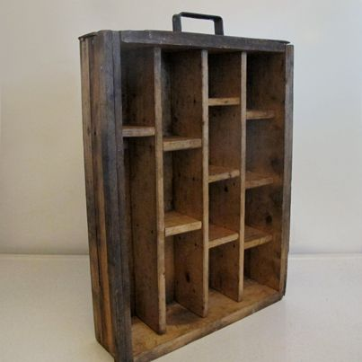 Art Studio Organization, Wooden Cubby Drawer, this one is sold, but something like it would be nice for stamps or something.