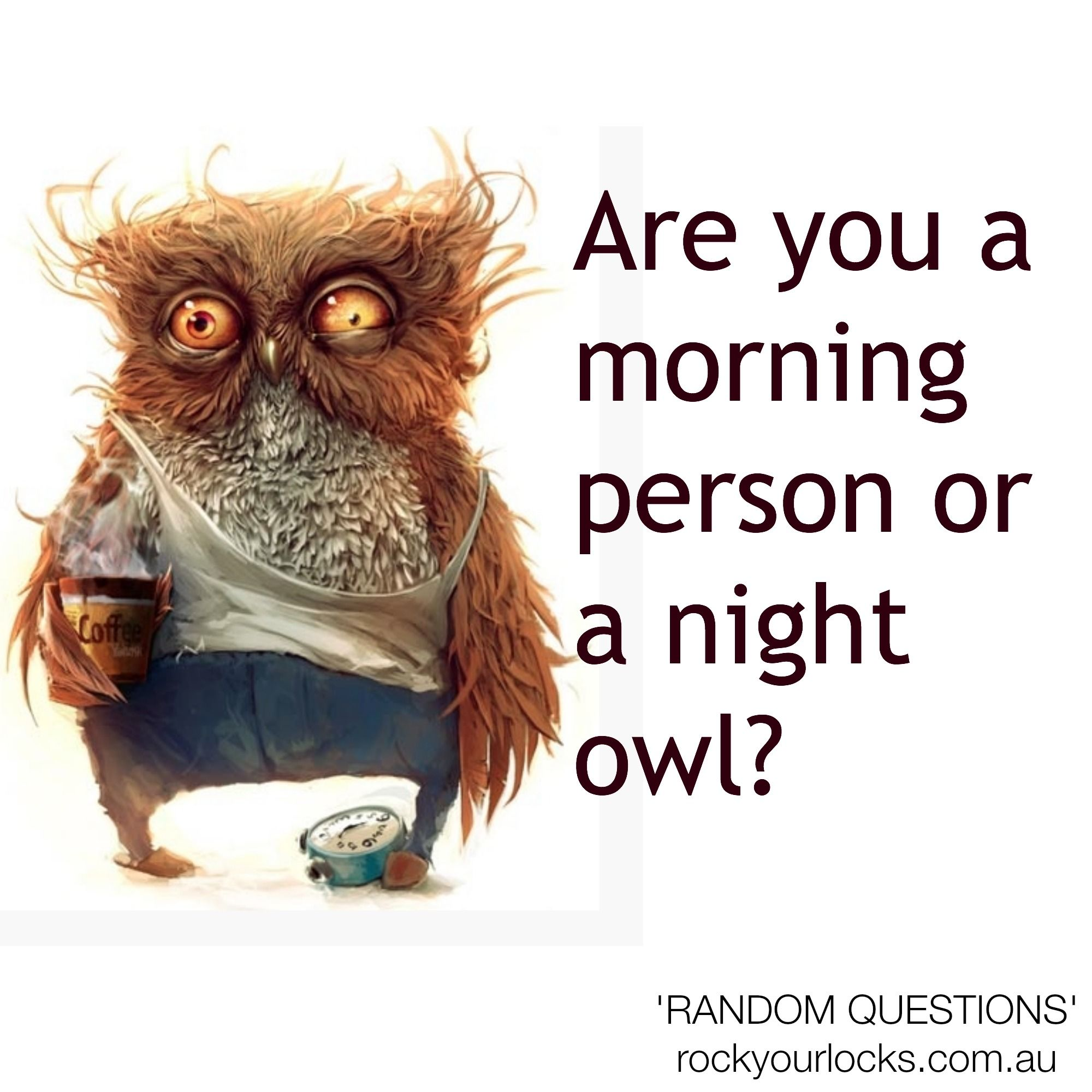 Are you a morning person or a night owl? | This or that ...