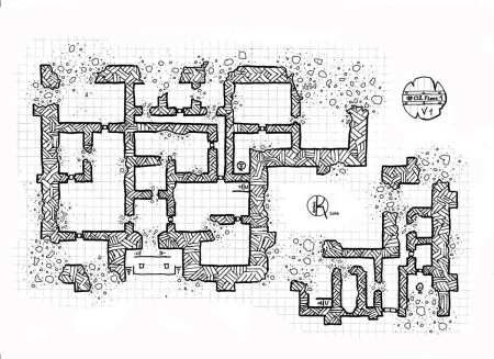 Ruined-castle-Floor-1, Floor plan, rpg map, kosmic dungeon | D&D ...