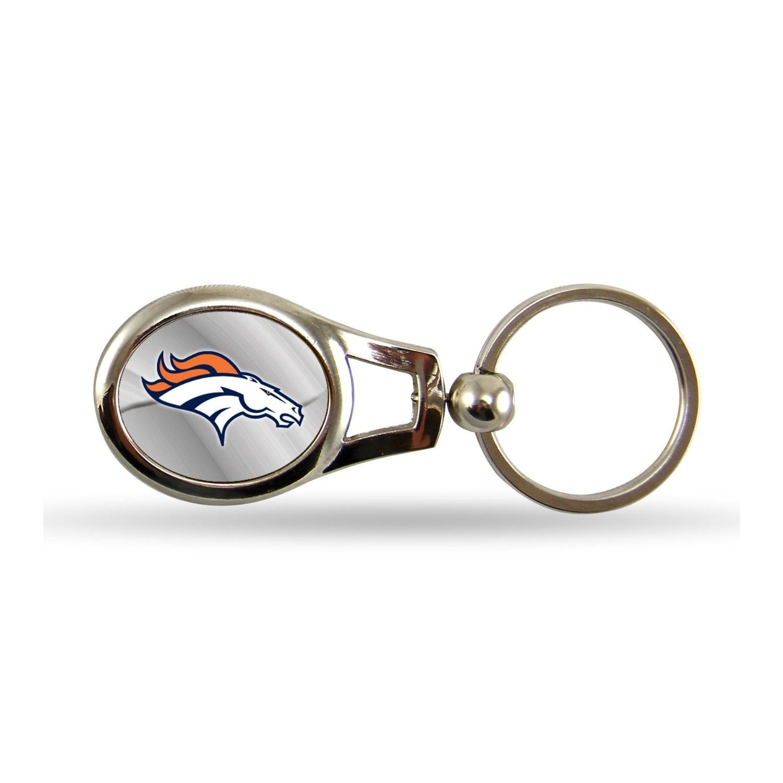 Official Licensed NFL Denver Broncos Oval Keychain