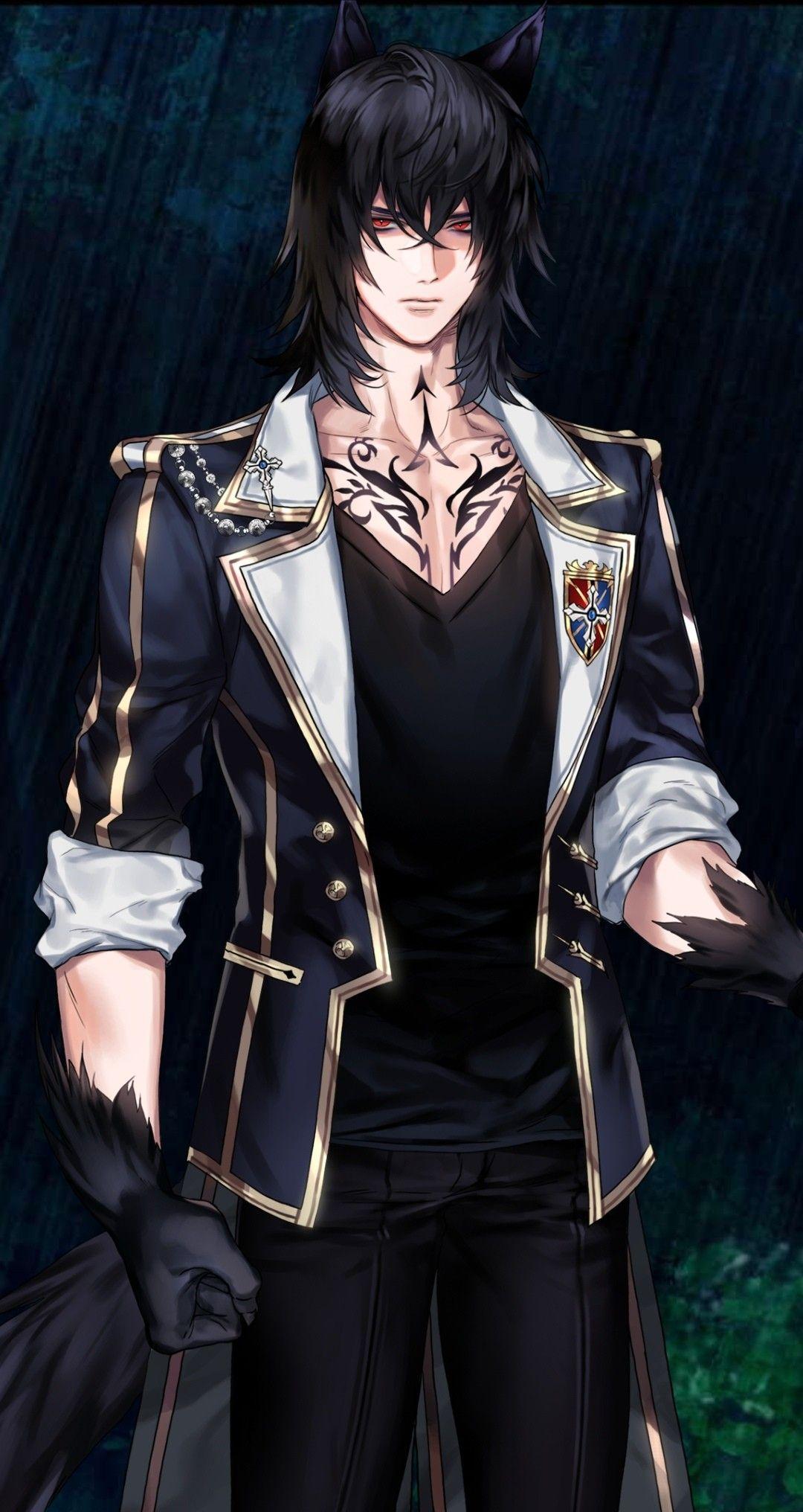 Wolf 🐺 Handsome anime guys, Cute anime boy, Anime fantasy
