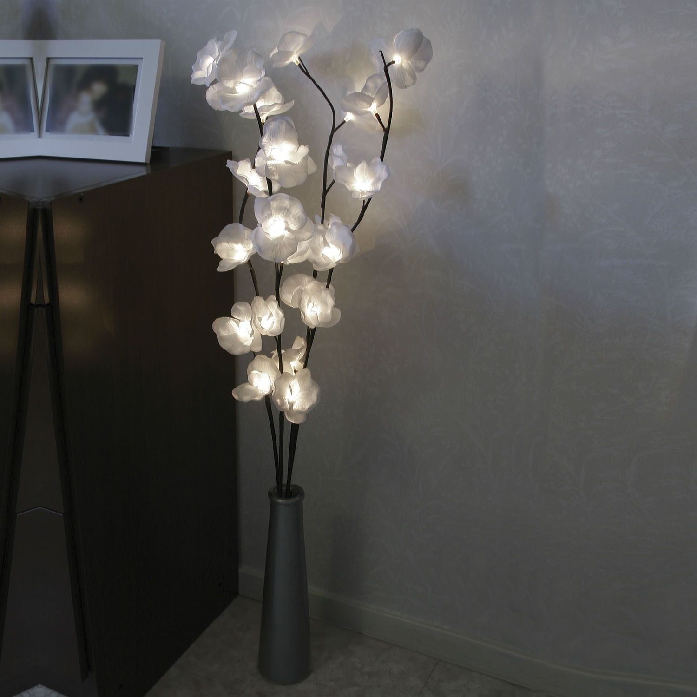 Magnolia Branches 24 Fleurs Lumineuses Led Blanc H100cm Best