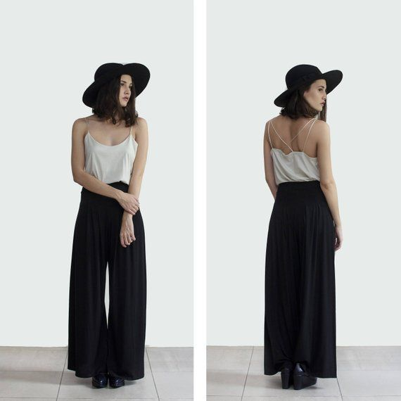 63eeae1455dc Black Palazzo pant , wide leg trousers , Boho High waist pants, wholesale