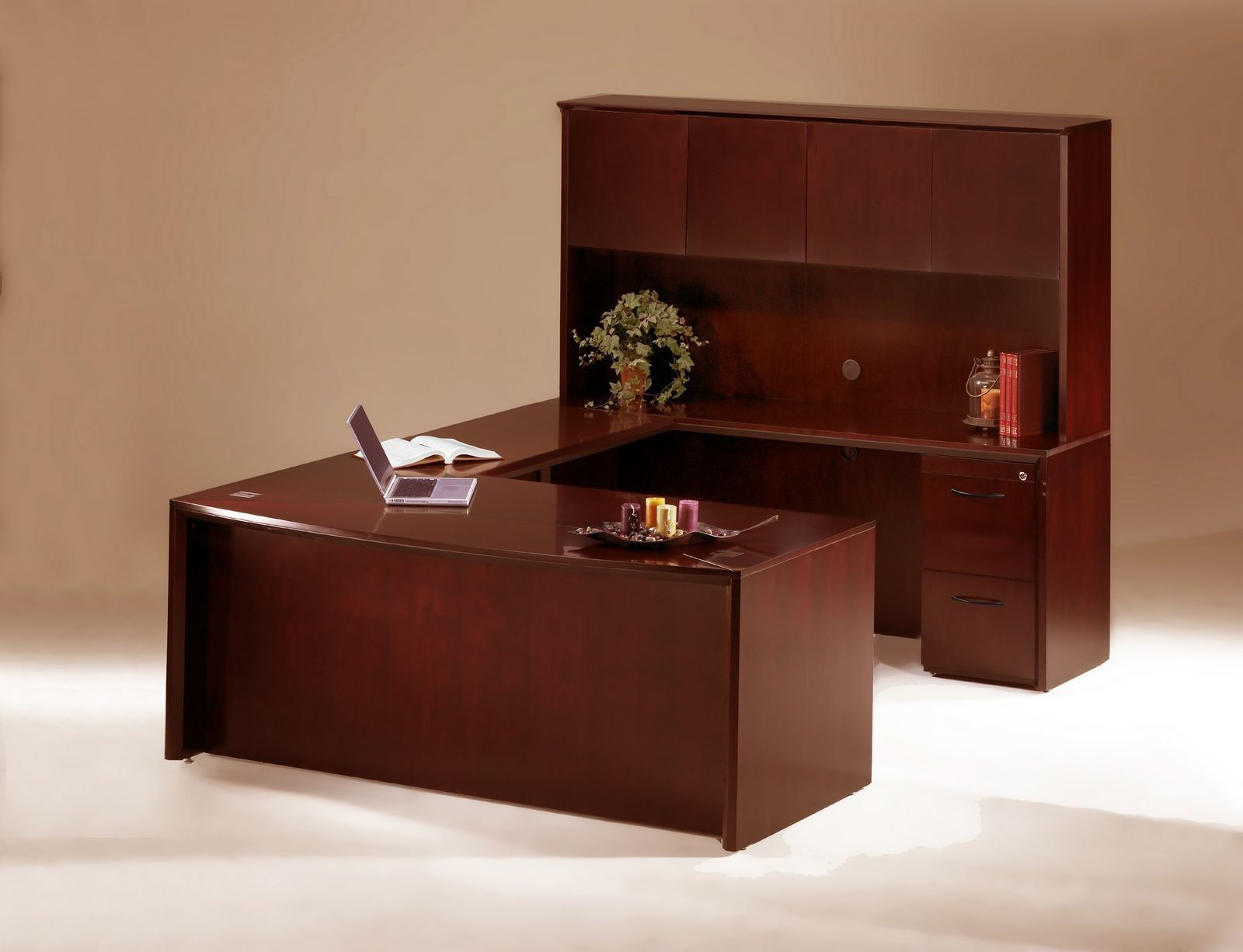 Features Material Veneer Bow Front Desk 72 W