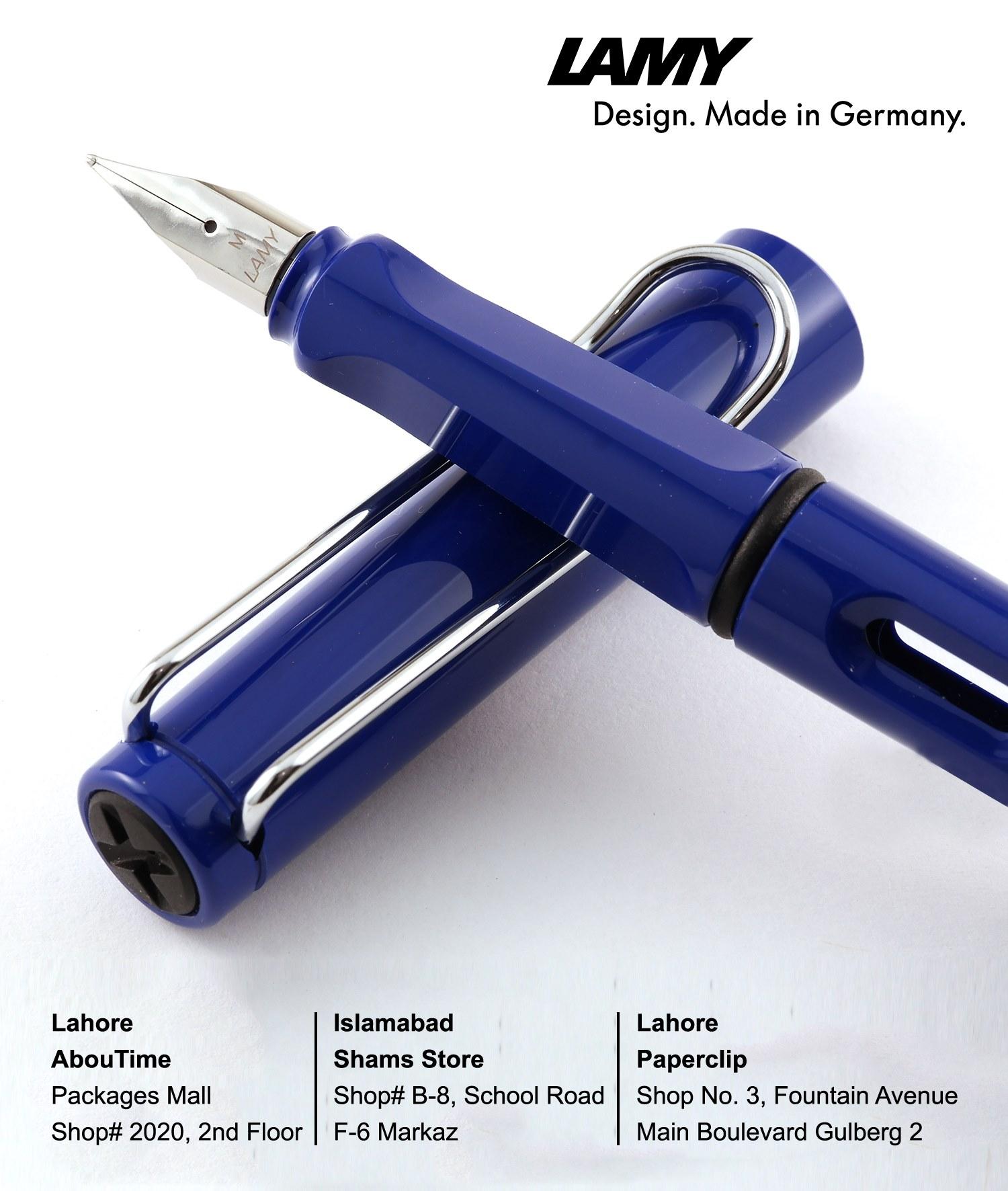 014 M Blue Lamy Safari Fountain Pen