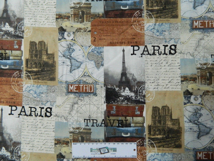 7 5aud Patchwork Quilting Sewing Cotton Fabric Paris
