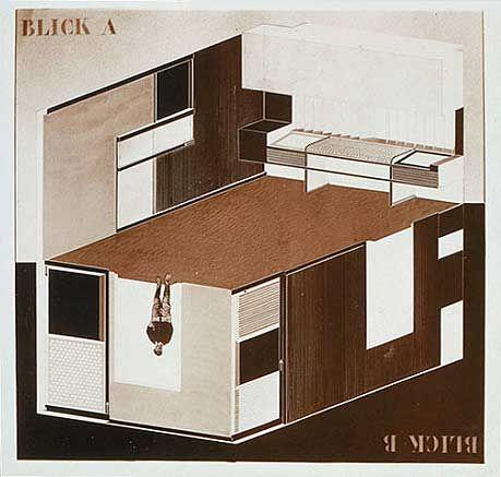 El Lissitzkyu0027s u201cCabinet of Abstractionu201d Metal workshop, Hannover - dessiner une maison en 3d