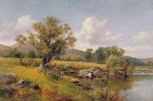 David Bates - A River Landscape