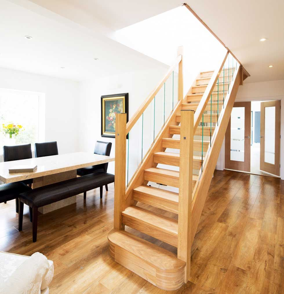 Best The Open Flight Wooden Staircase Bungalow Renovation 400 x 300